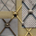 Regency diamond brass decorative grilles