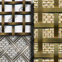 interwoven brass and stainless steel grille range