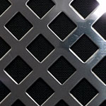 Diaond Hole Polished Stainless Steel Grille