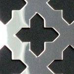 Oregon Cross Perforated Stainless Steel Grille