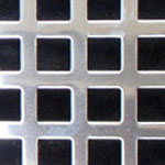 Square Hole Polished Stainless Steel Grille Sheet